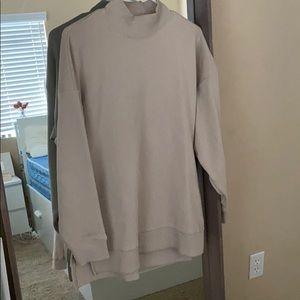 Mock neck oversized sweater
